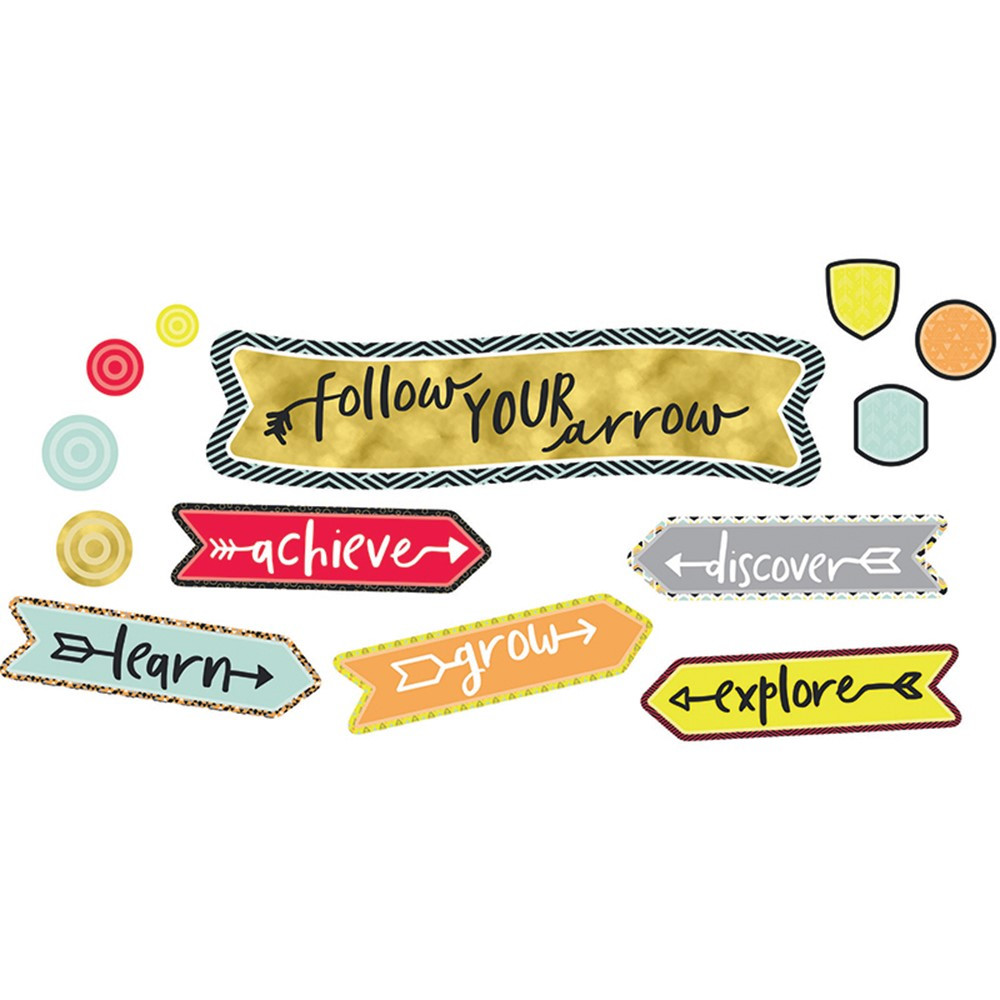 CD-110354 - Follow Your Arrow Mini Bulletin Board Set Gr 2-5 in Inspirational