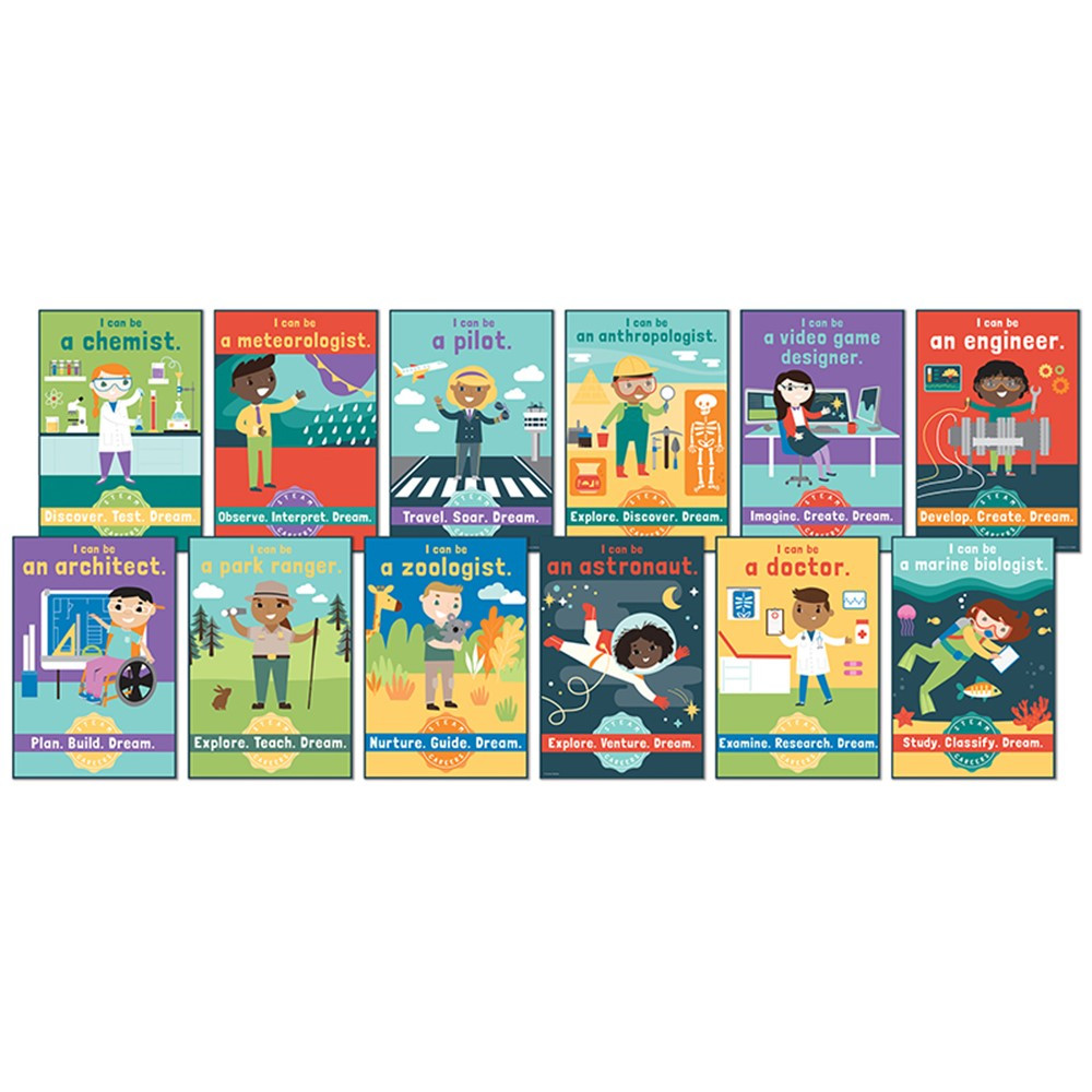 CD-110383 - Steam Careers Bulletin Board Set in Miscellaneous