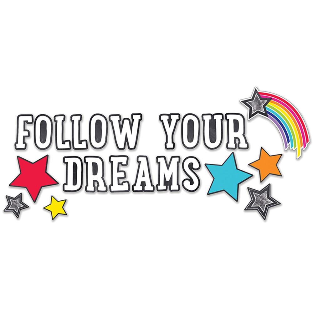 CD-110405 - Stars Follow Your Dreams Bulletin Board Set School Girl Style in Miscellaneous