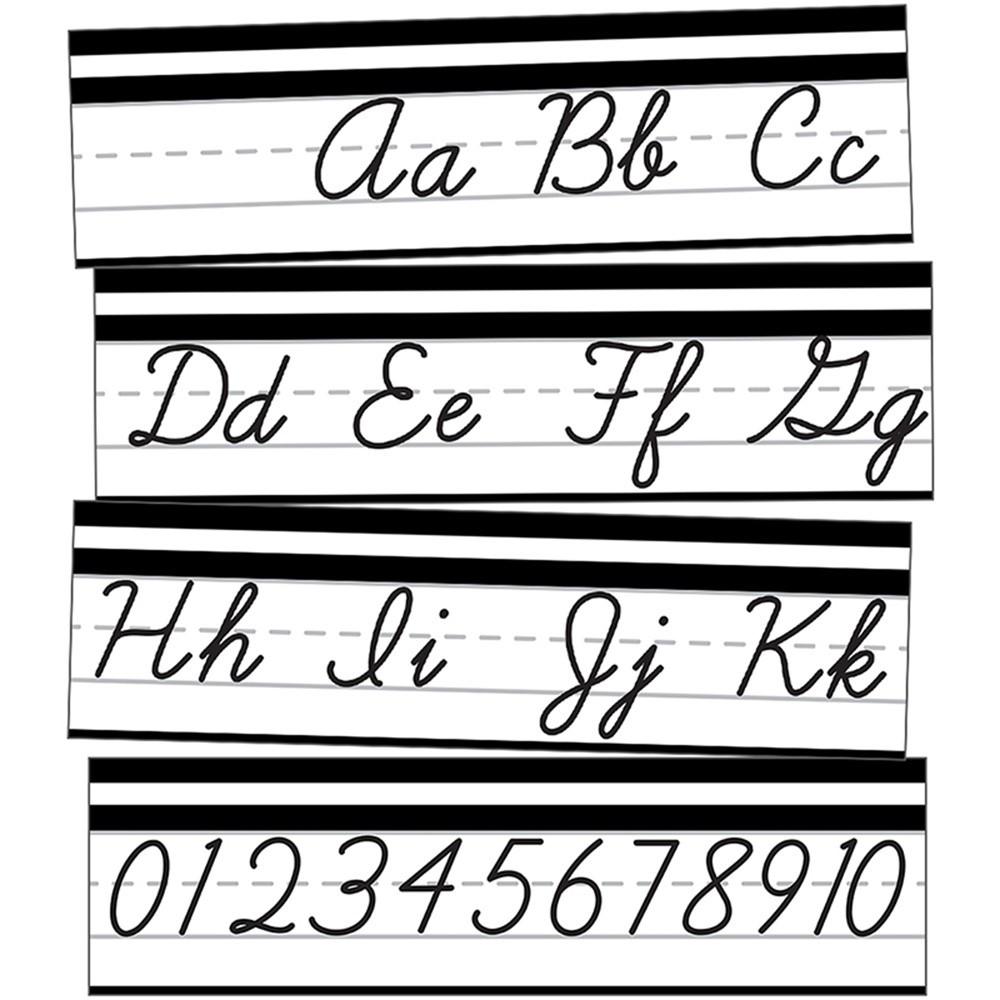 CD-110411 - Alphabet Line Cursive Mini Bb St Simply Stylish in Classroom Theme