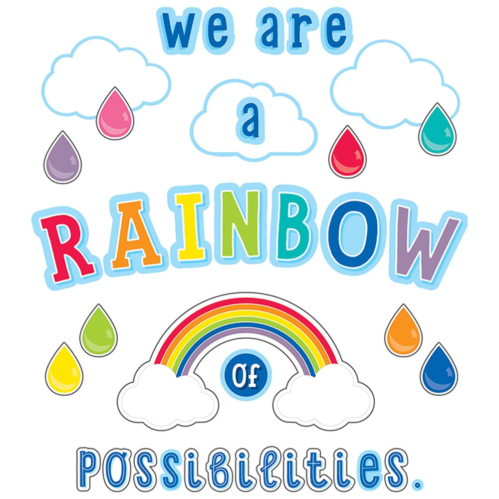 CD-110416 - We Are A Rainbow Of Possibilities Hello Sunshine Bb St in Classroom Theme