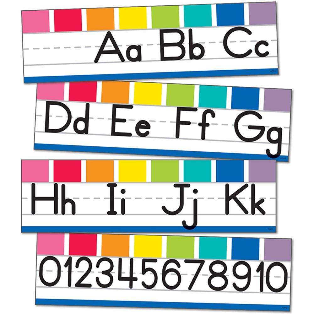 CD-110419 - Alphabet Line Manuscript Mini Bb St Hello Sunshine in Classroom Theme