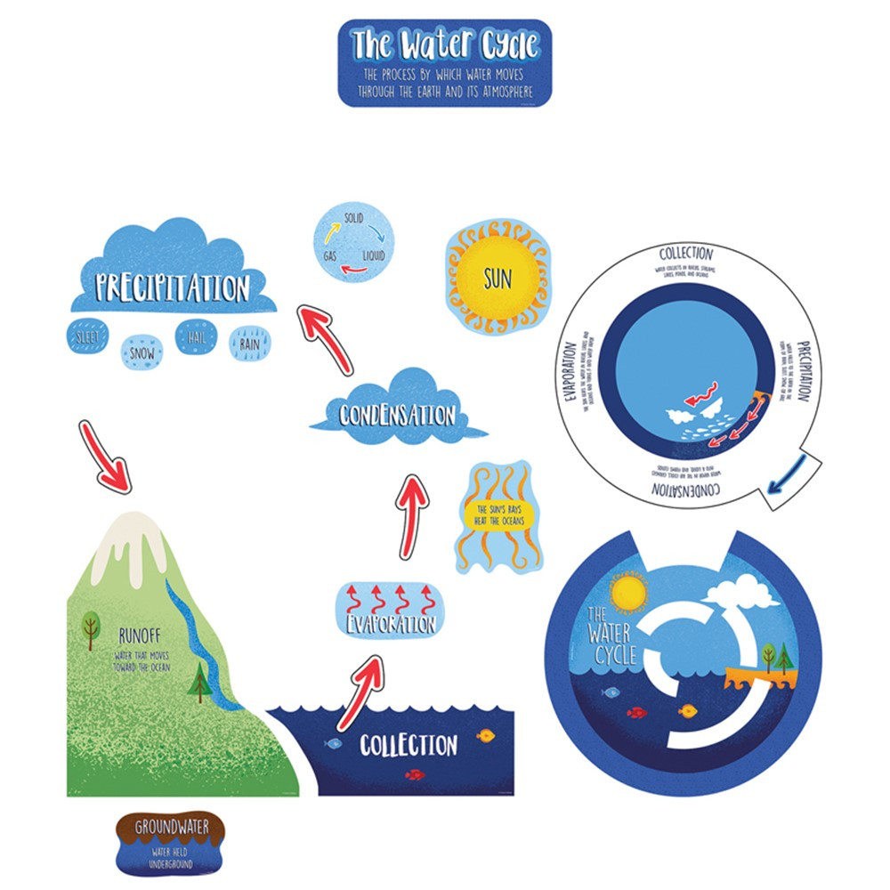 Water Cycle Bulletin Board Set - CD-110474 | Carson Dellosa Education | Science