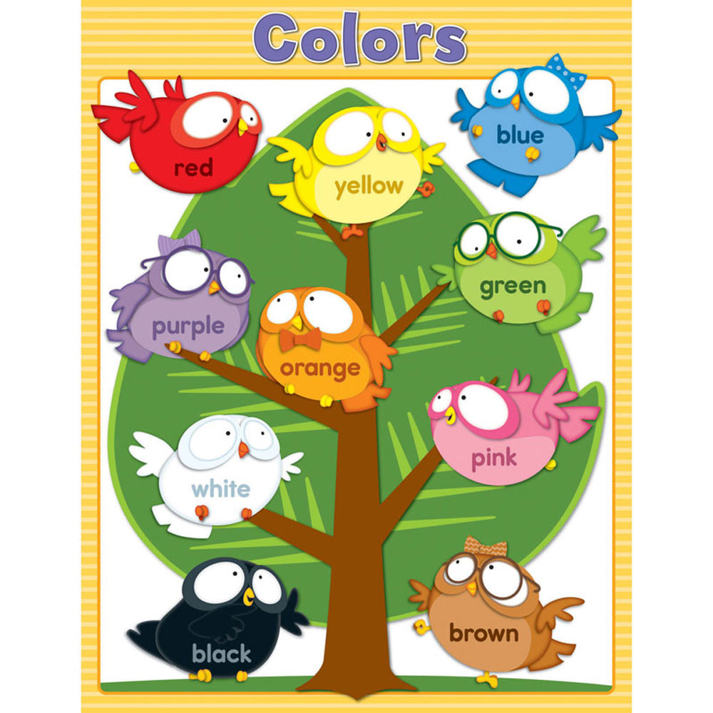 CD-114122 - Owl Pals Colors Chartlet Gr Pk-1 in Science