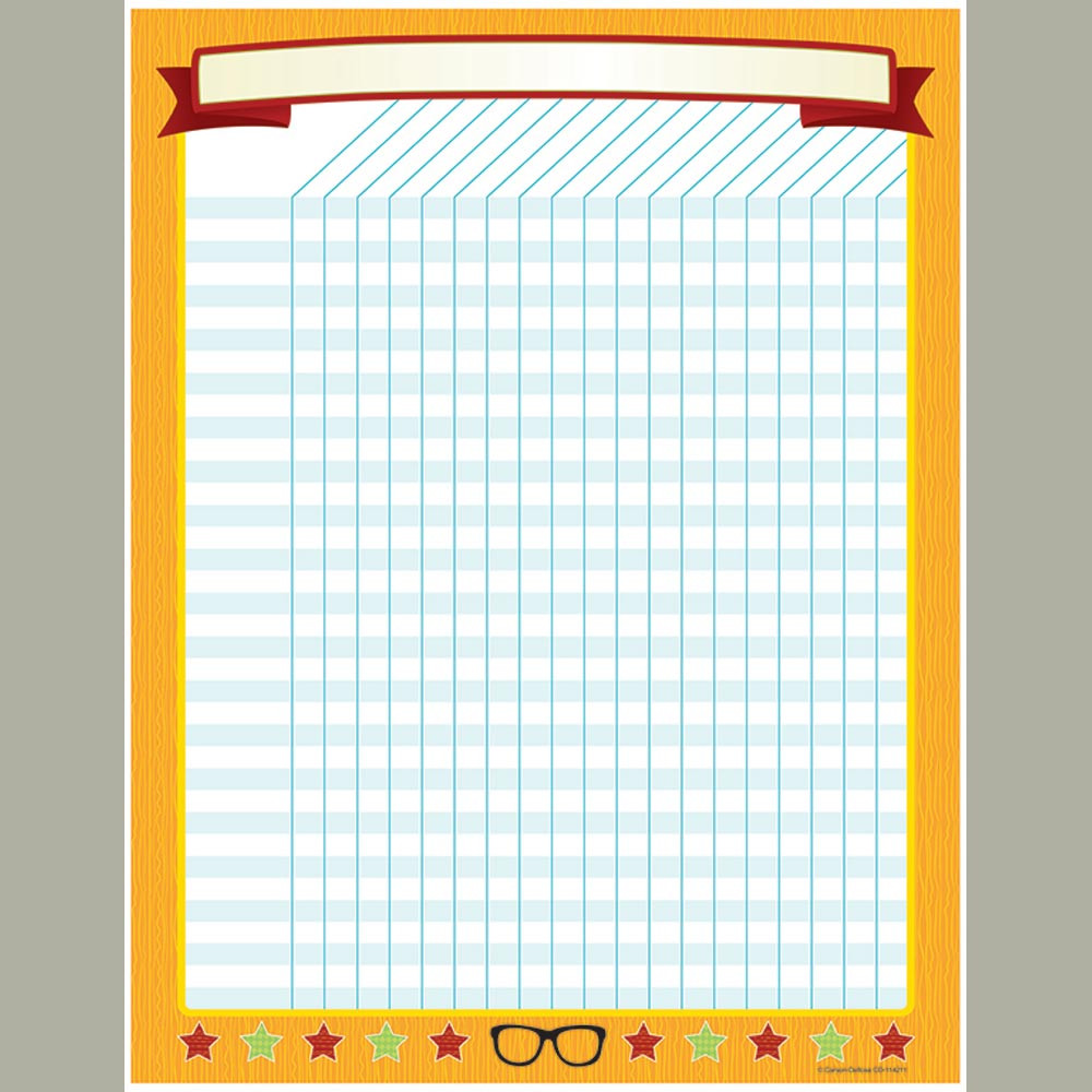 CD-114211 - Hipster Incentive Chart in Classroom Theme