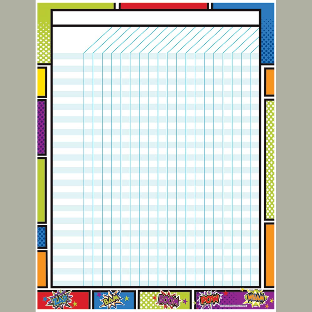 CD-114213 - Super Power Incentive Chart in Classroom Theme