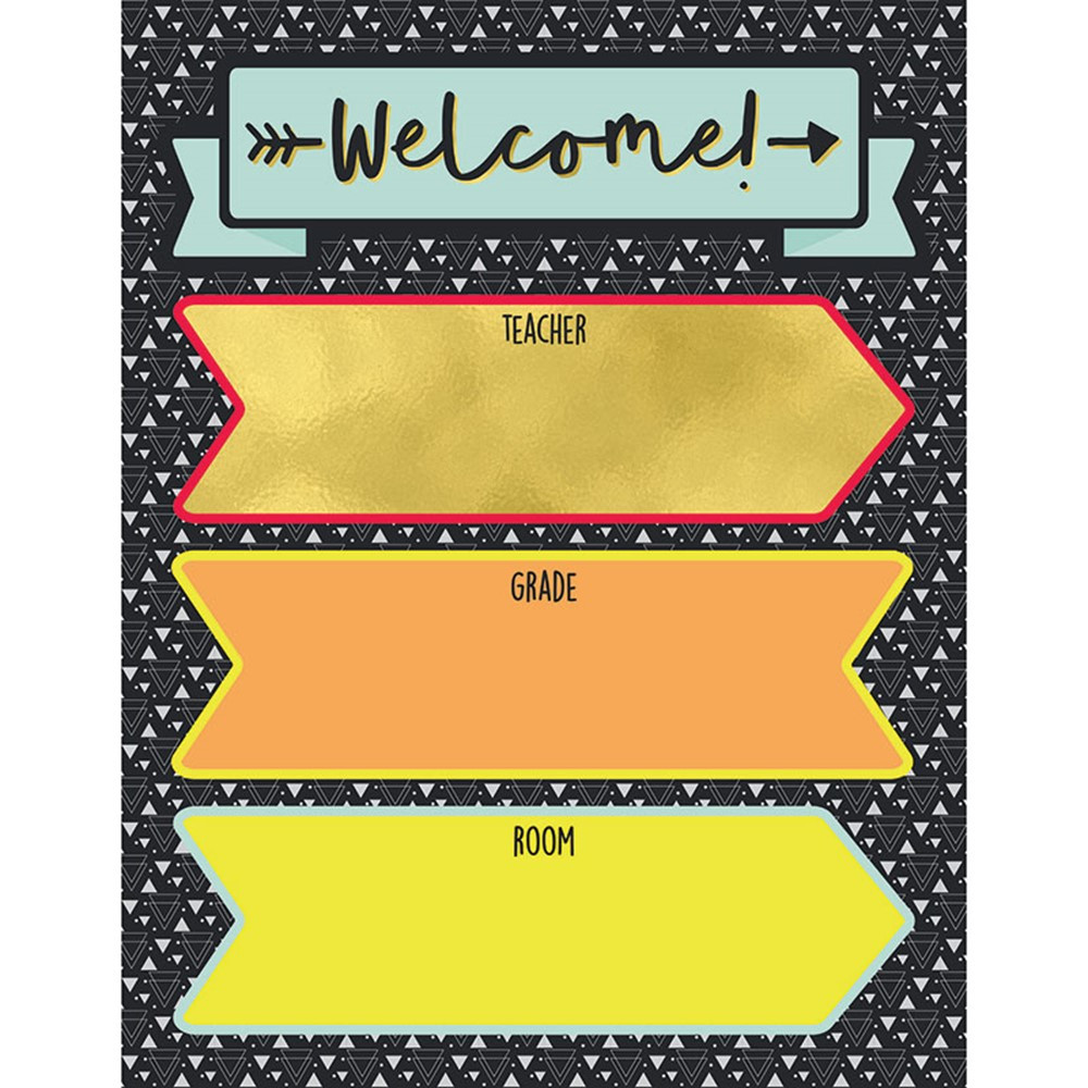 CD-114228 - Welcome Chartlet Gr 2-8 Decorative in Classroom Theme