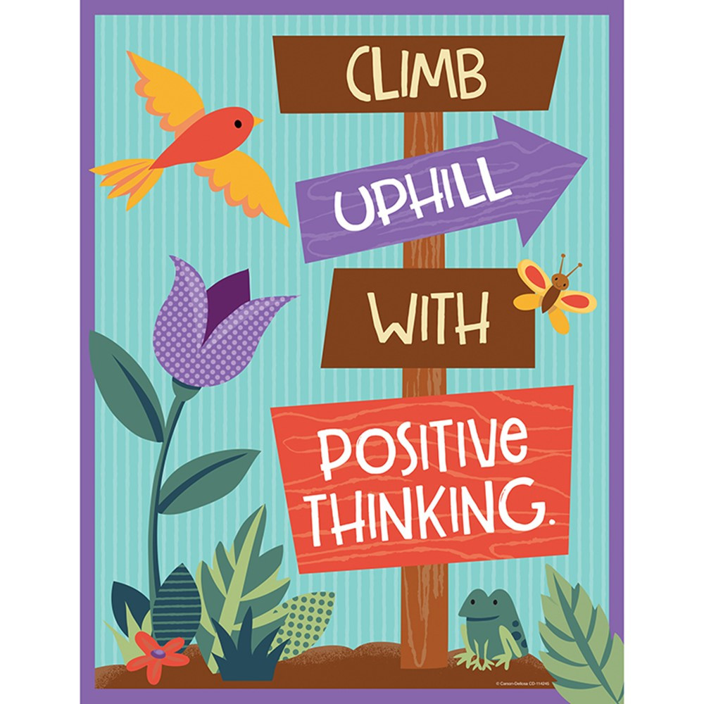 CD-114245 - Climb Uphill Positive Think Chart Nature Explorers in Motivational