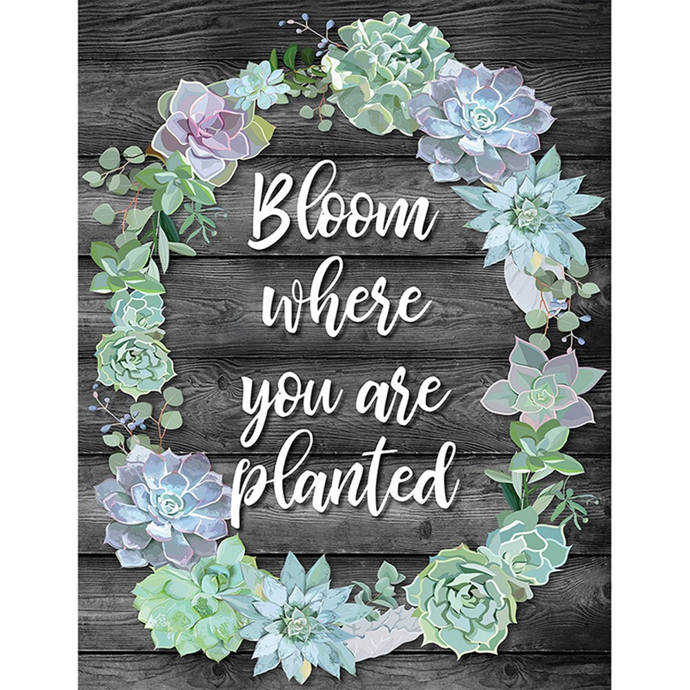 CD-114259 - Bloom Where You Are Planted Chart Simply Stylish in Classroom Theme
