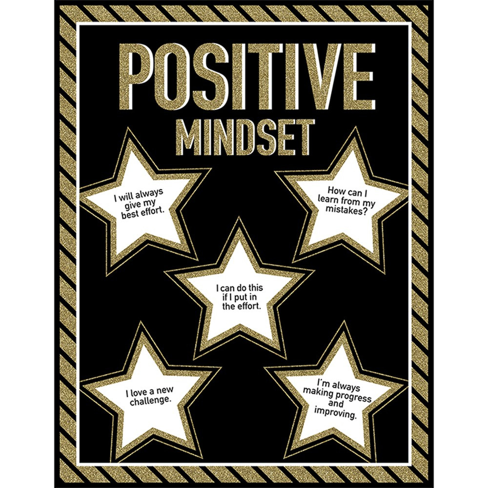 CD-114276 - Positive Mindset Chart Sparkle And Shine in Classroom Theme