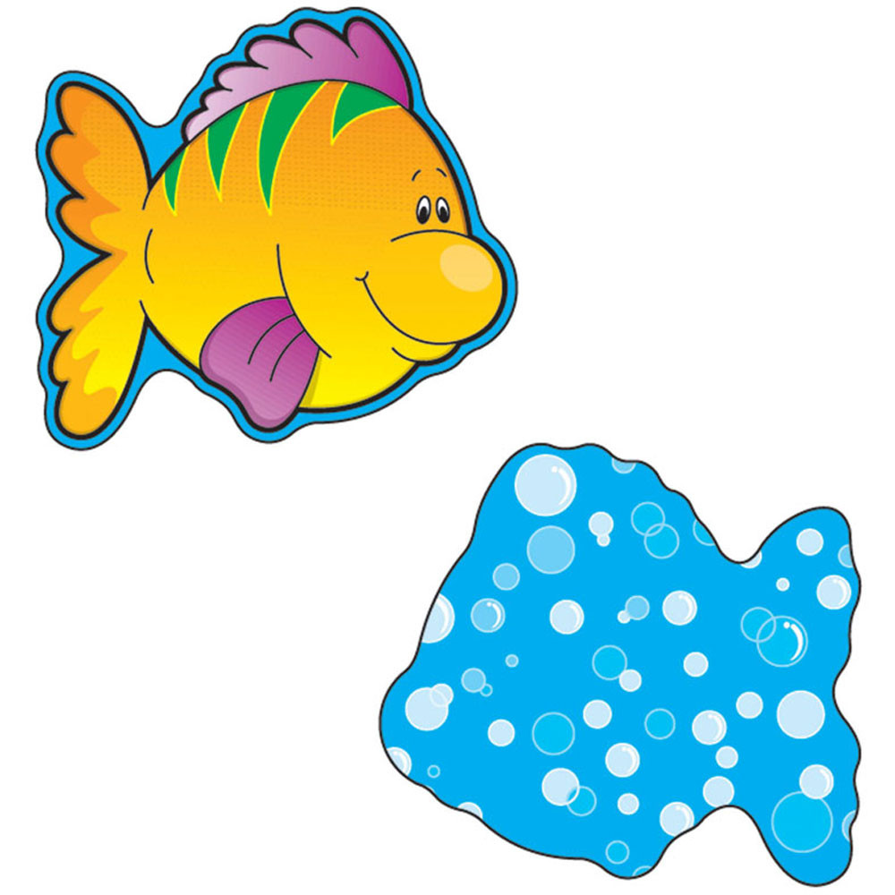 CD-120016 - Fish Mini Cutouts in Accents