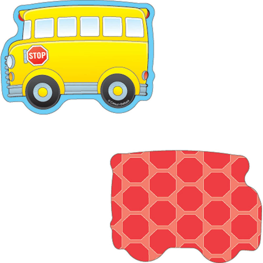 CD-120020 - School Buses Mini Cutouts in Accents