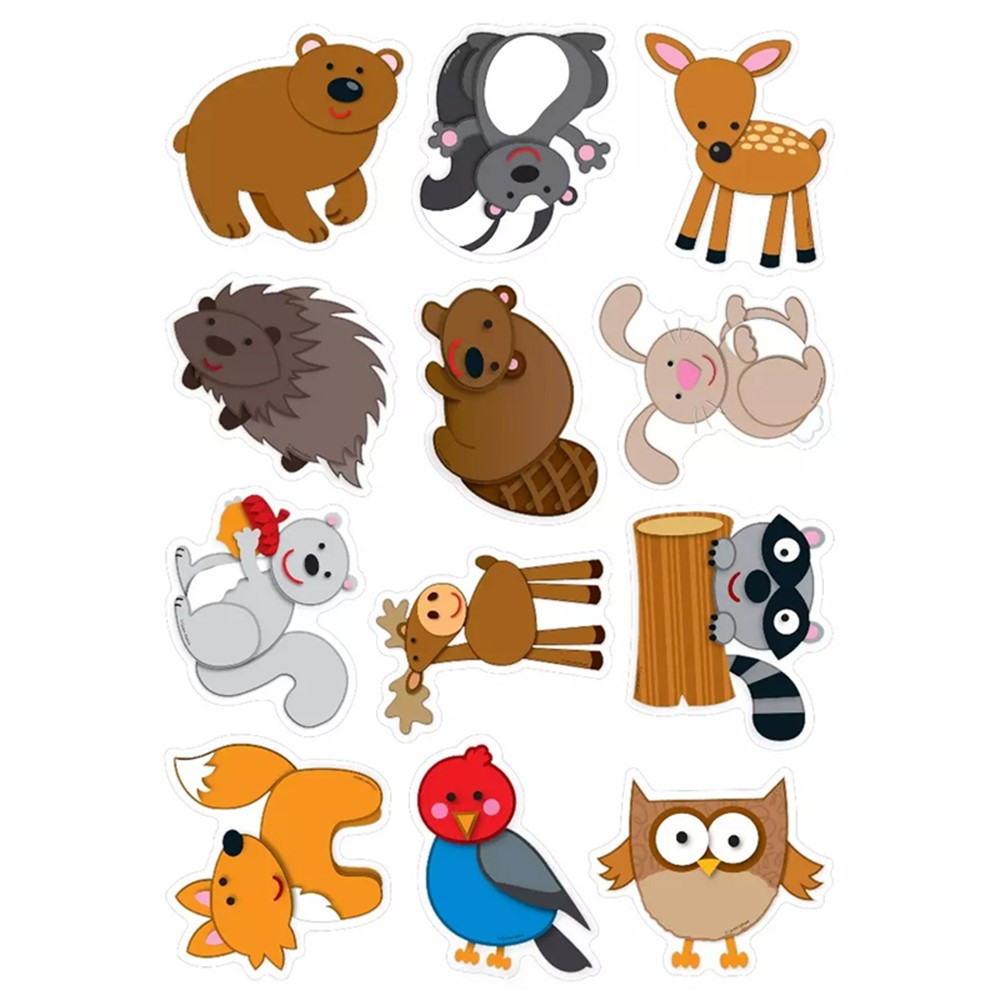 CD-120108 - Woodland Animals Cut Outs 36Ct in Accents
