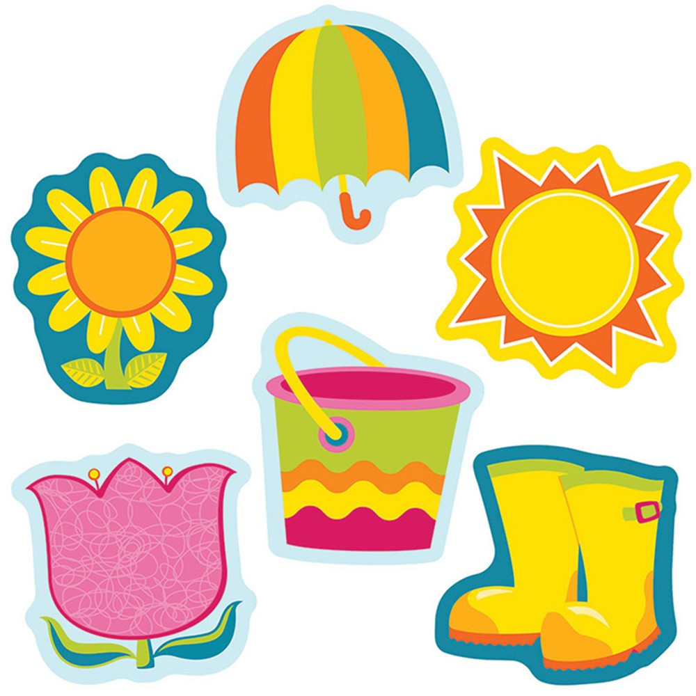 CD-120183 - Spring Mix Mini Cut Outs in Holiday/seasonal