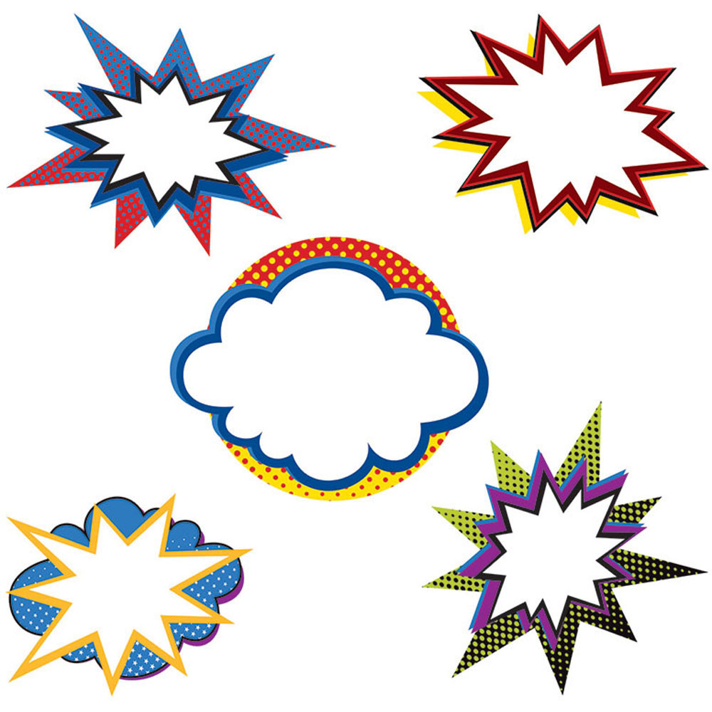CD-120186 - Super Power Bursts Cut Outs in Accents