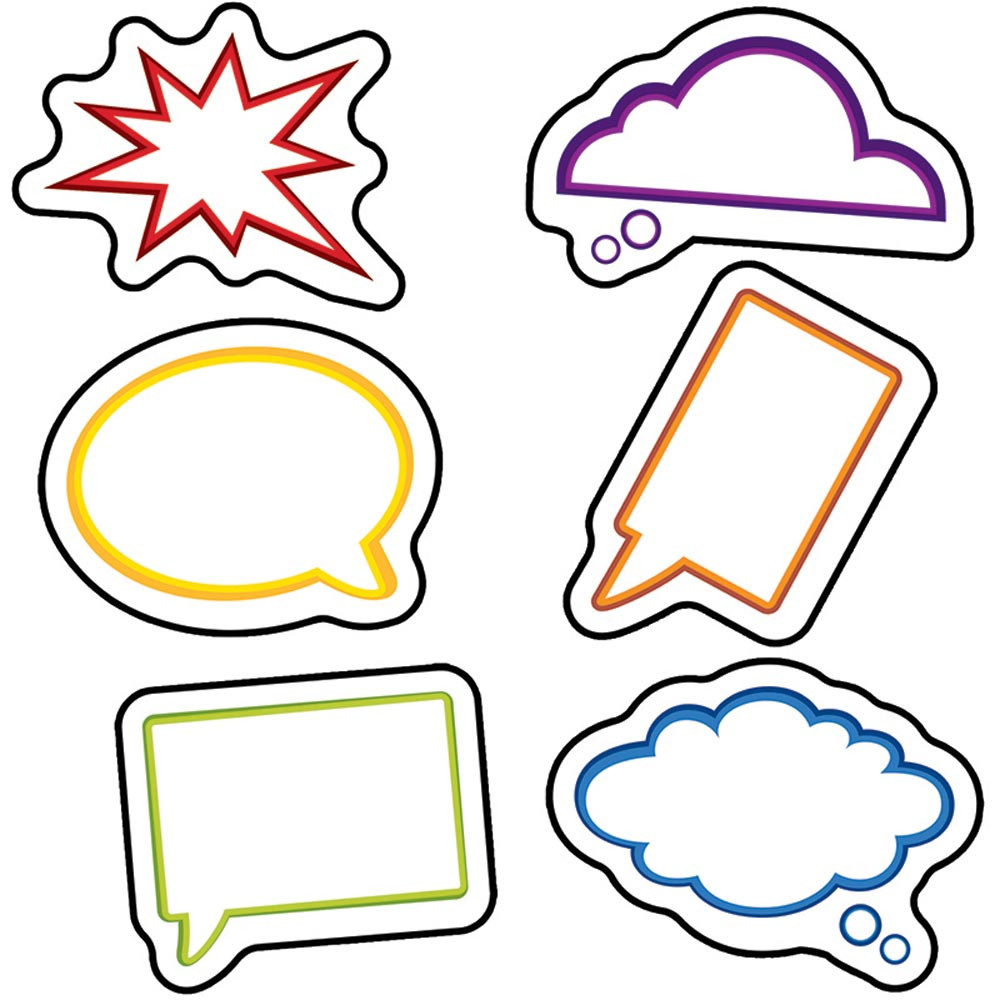 CD-120187 - Super Power Speech Bubbles Cut Outs in Accents