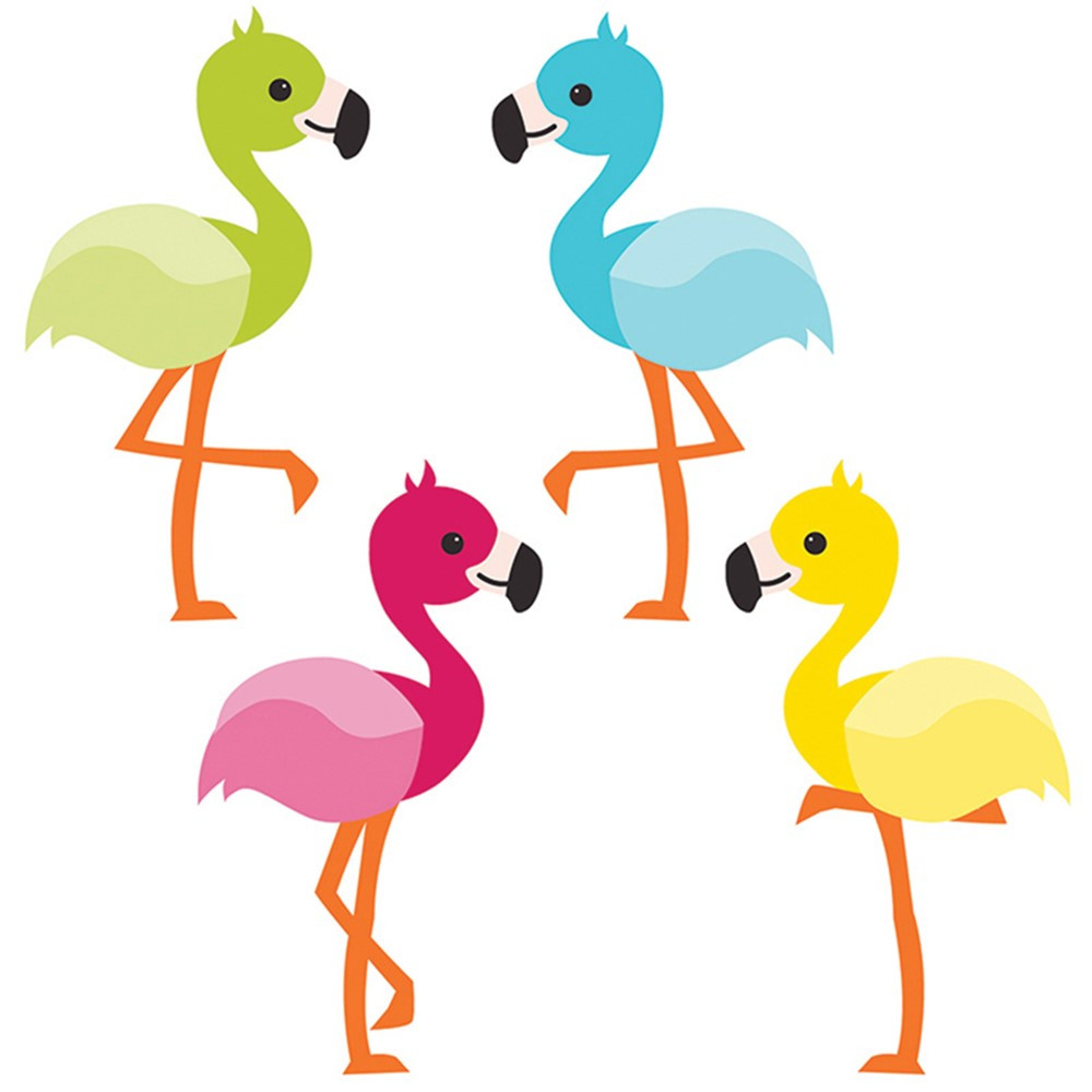 CD-120211 - School Pop Flamingos Cut Outs in Accents