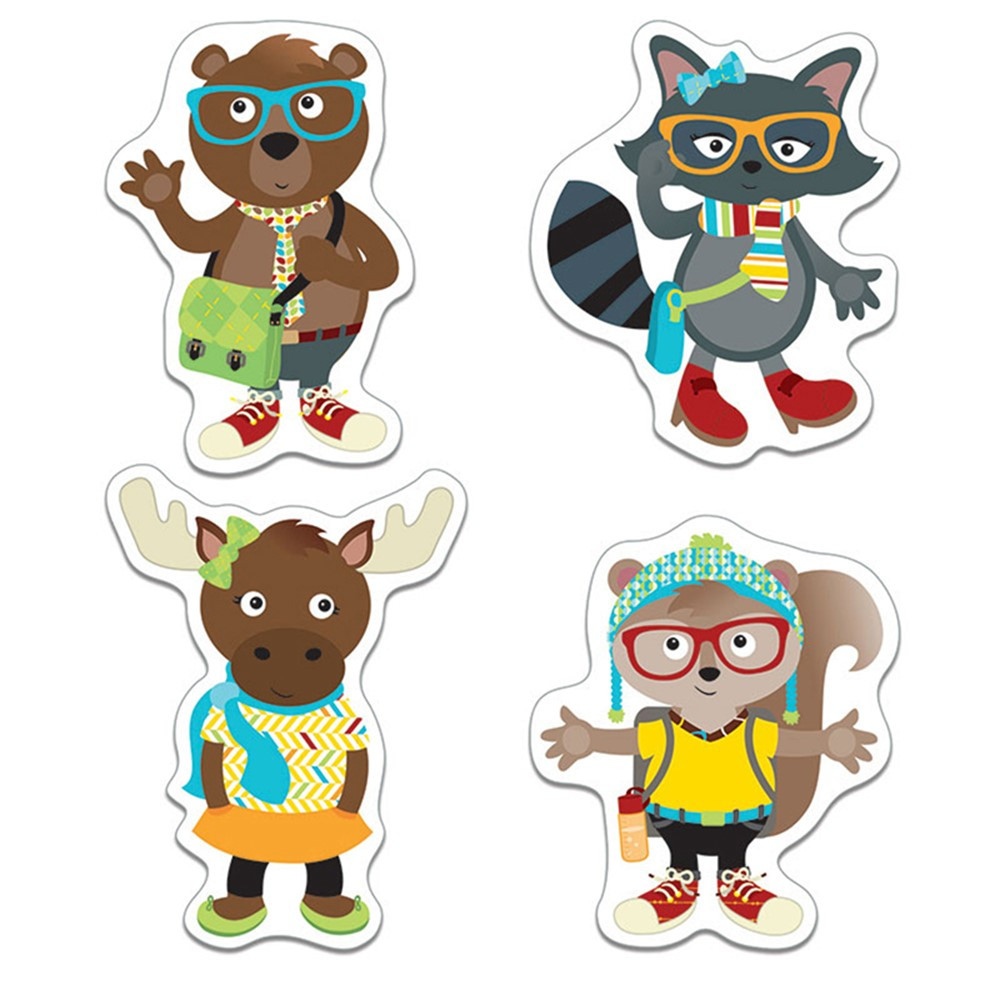 CD-120214 - Hipster Pals Cut Outs in Accents
