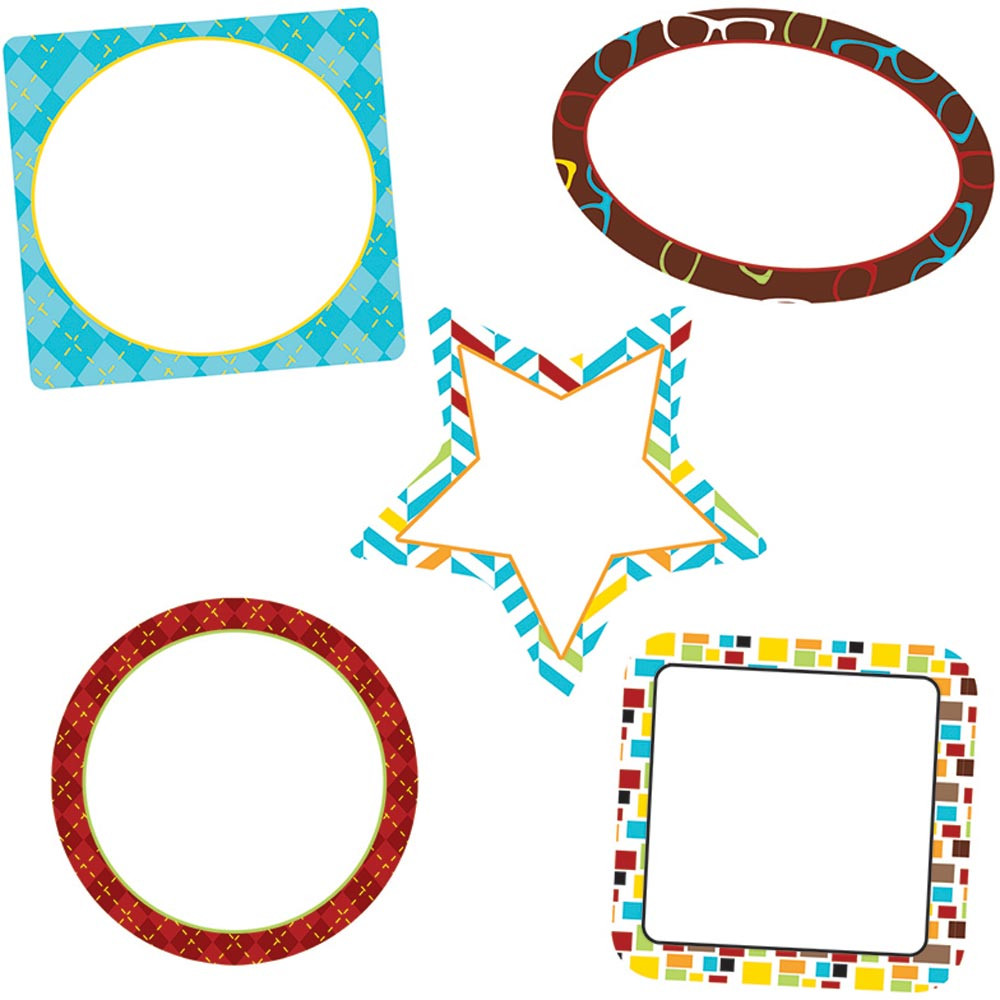 CD-120216 - Hipster Frames Cut Outs in Accents