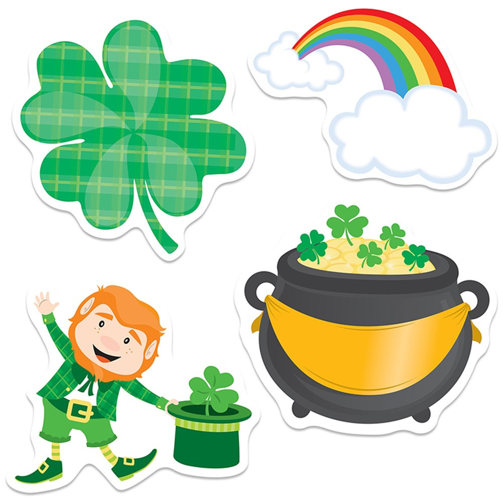 CD-120222 - St Patricks Day Cutout Gr Pk-5 in Holiday/seasonal