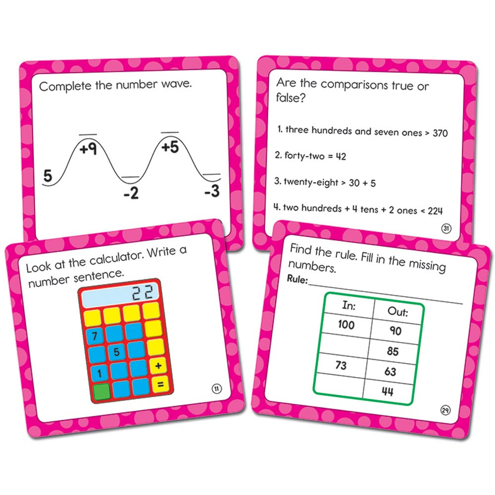 CD-120502 - Math Challenge Gr 2 Colorful Cut Outs in Accents