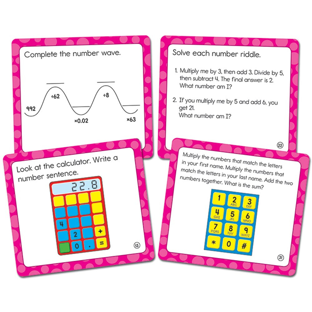 CD-120505 - Math Challenge Gr 5 Colorful Cut Outs in Accents