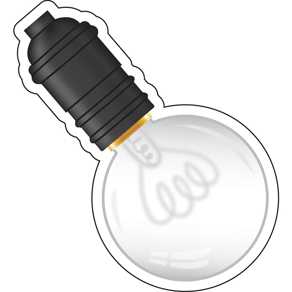 CD-120544 - Industrial Chic Light Bulb Cut Outs School Girl Style in Accents