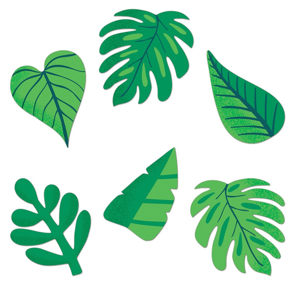 One World Tropical Leaves Cut-Outs, Pack of 36 - CD-120593 | Carson Dellosa Education | Accents