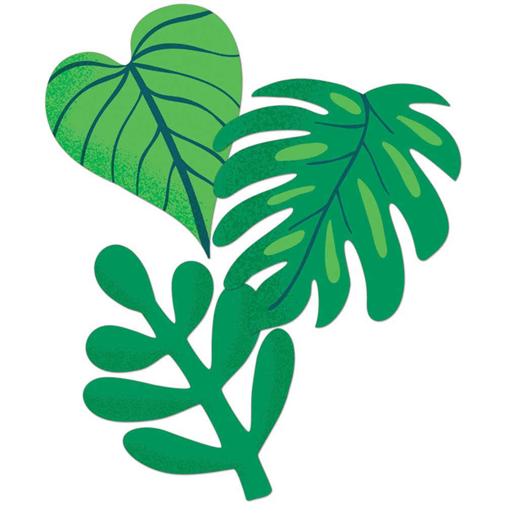 One World Tropical Leaves Extra Large Cut-Outs, Pack of 12 - CD-120596 | Carson Dellosa Education | Accents