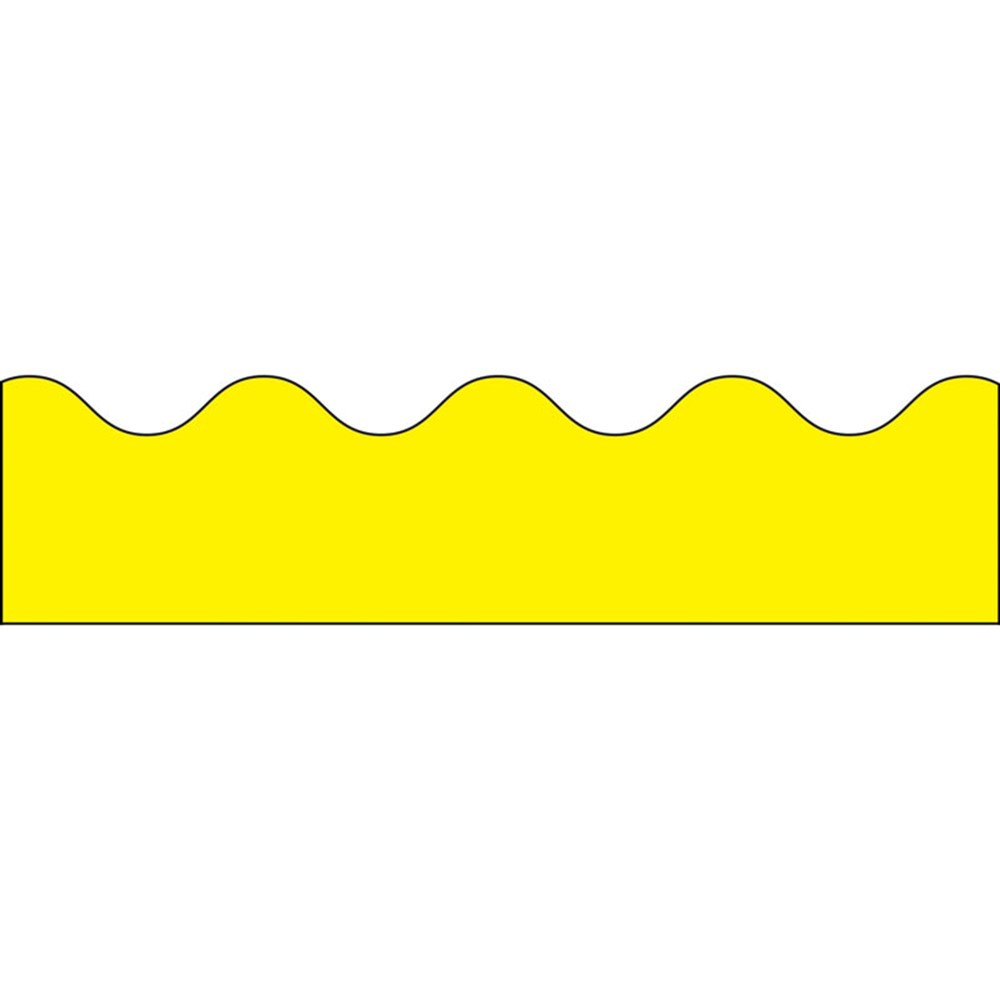CD-1217 - Border Yellow Scalloped in Border/trimmer