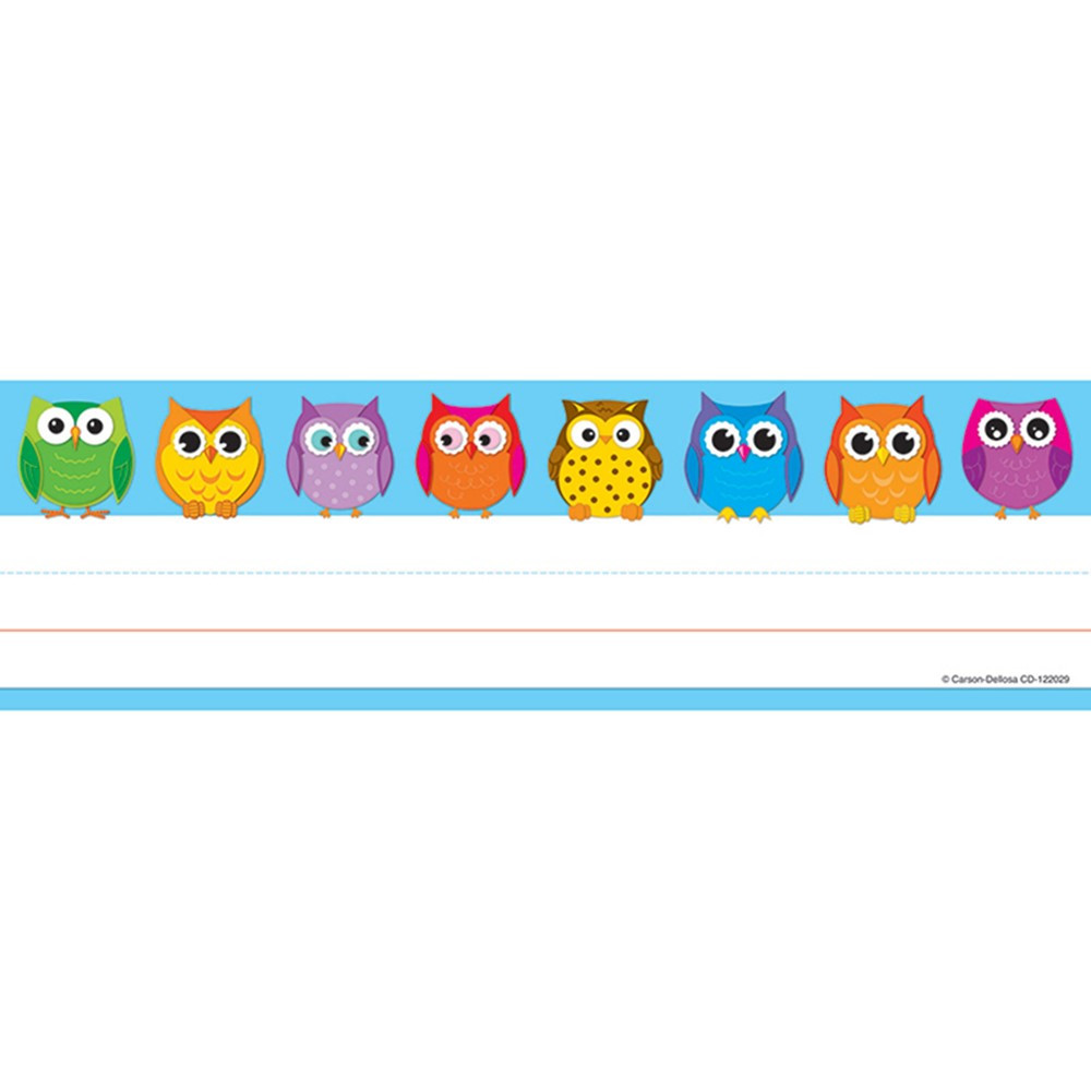 CD-122029 - Colorful Owls Nameplates 36Ct in Name Plates
