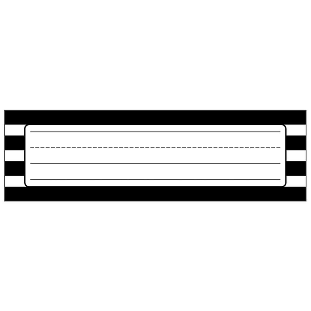 CD-122040 - Black & White Stripe Nameplates Simply Stylish in Name Plates