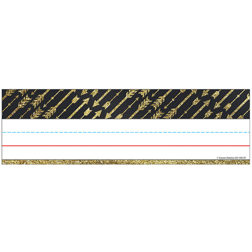 CD-122137 - Gold Glitter Arrows Nameplates Sparkle And Shine in Name Plates