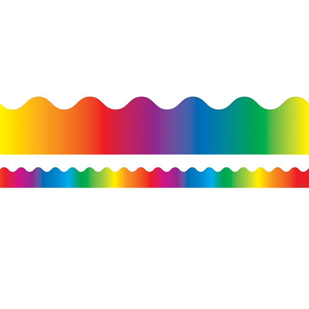 CD-1232 - Border Rainbow Scalloped in Border/trimmer