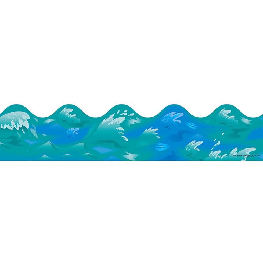 Border Ocean Waves Scalloped Cd 1240 Carson Dellosa