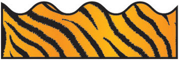 CD-1243 - Border Tiger Print Scalloped in Border/trimmer
