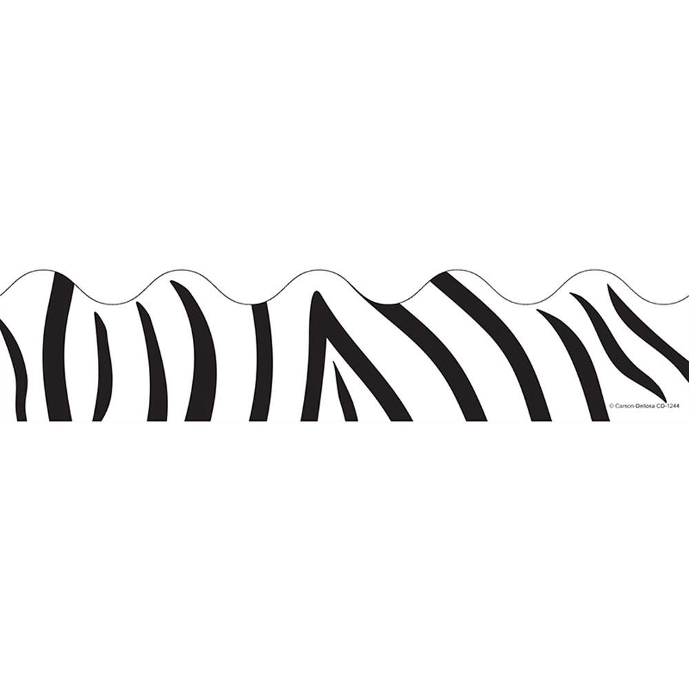 CD-1244 - Border Zebra Print Scalloped in Border/trimmer