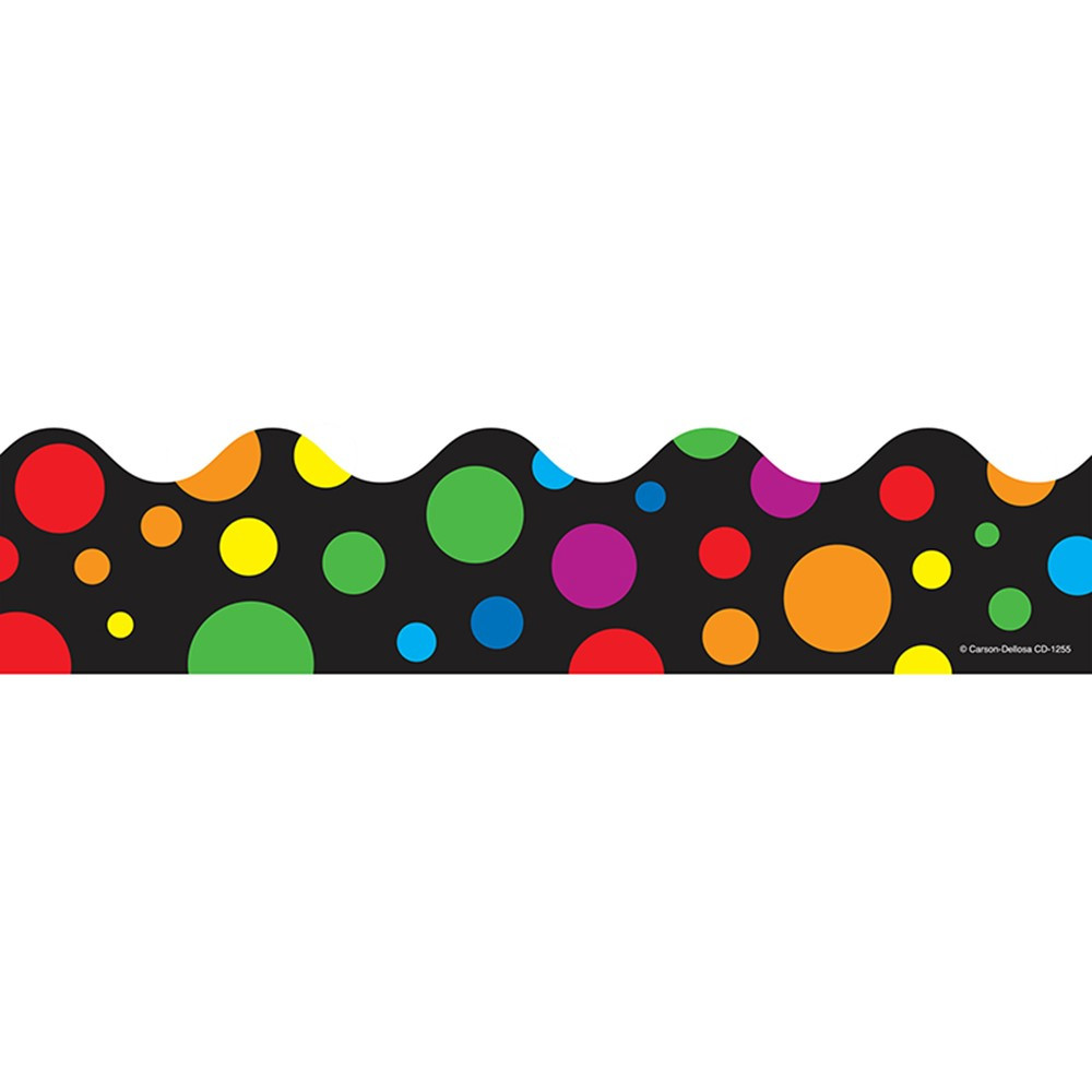 CD-1255 - Rainbow Dots Scalloped Border in Border/trimmer