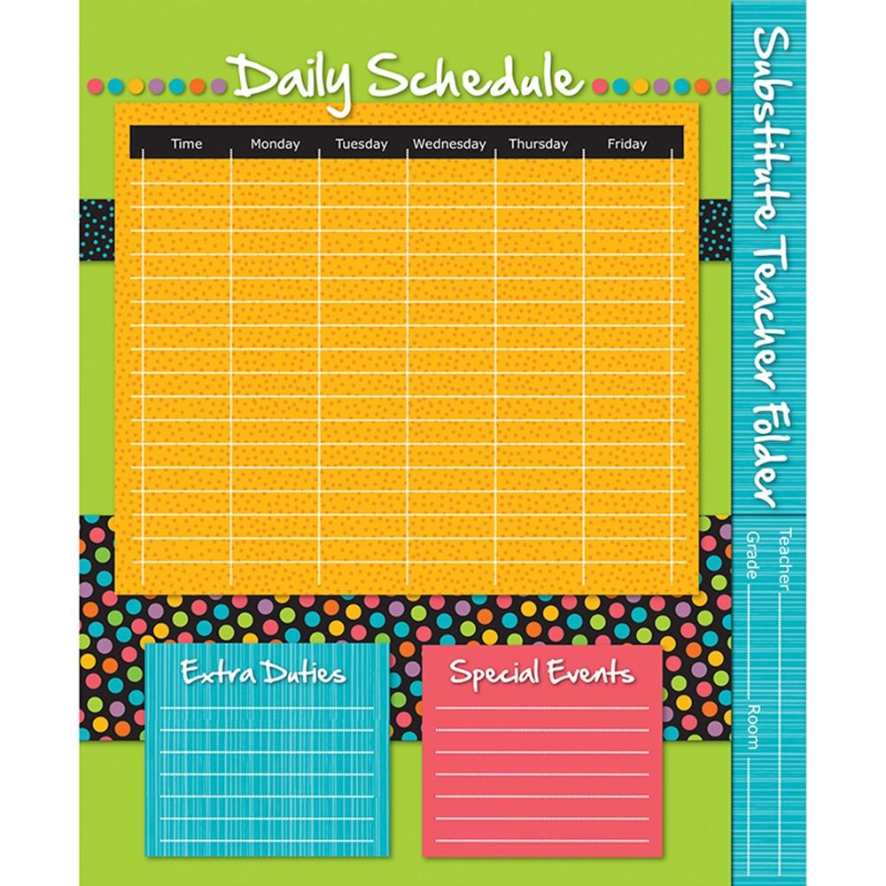 CD-136001 - Substitute Teacher Folder Stylin Strips in Substitute Teachers