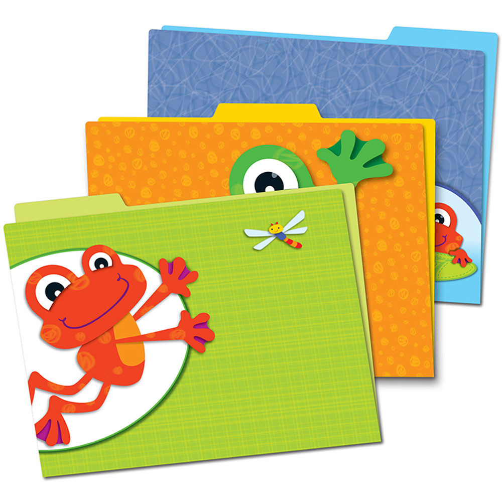 CD-136008 - Funky Frogs Folders in Folders