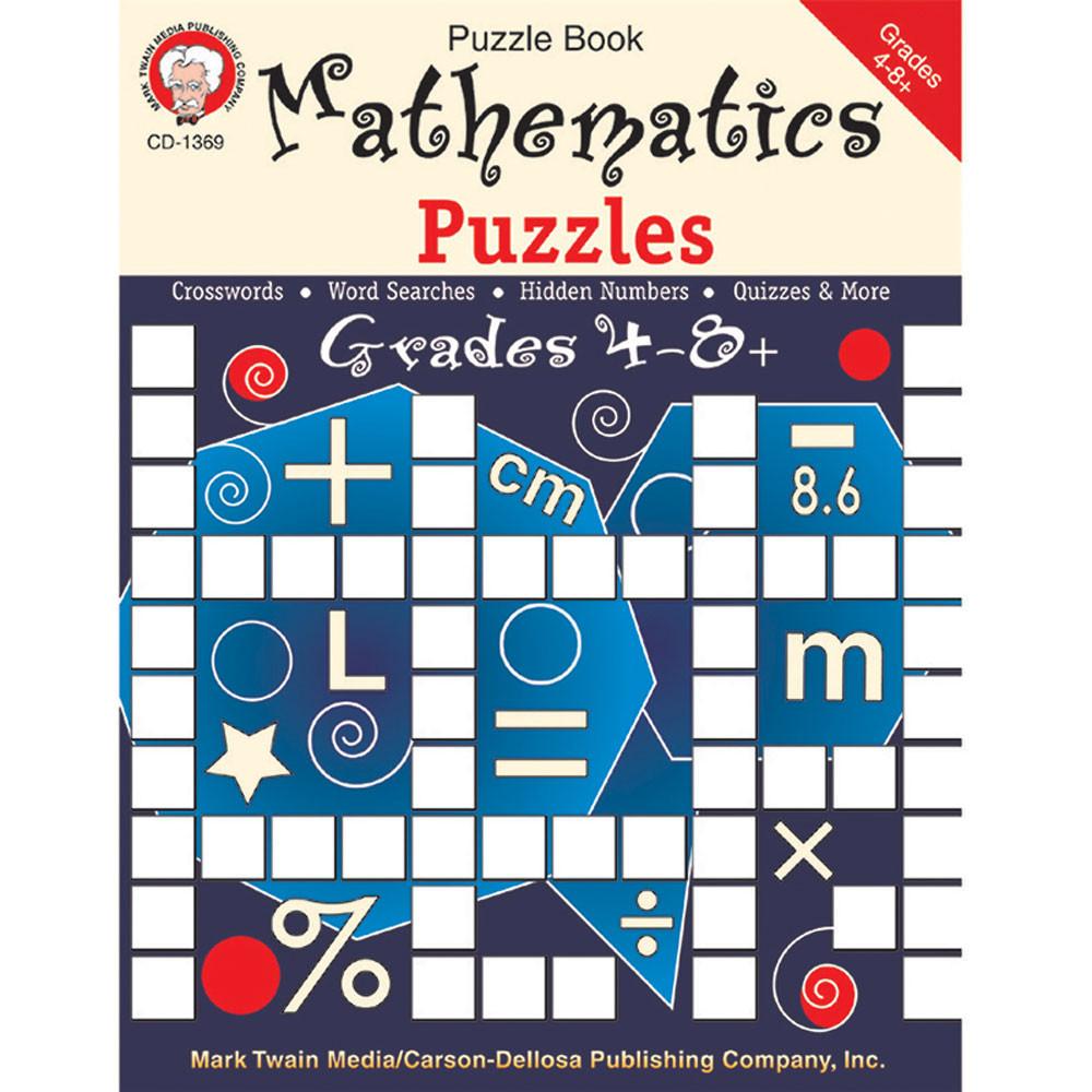 Mathematics Puzzles, Grades 4 - 12 - CD-1369 | Carson Dellosa | Math ...