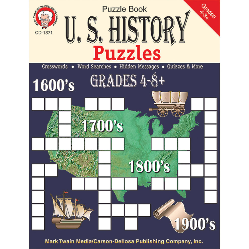CD-1371 - Us History Puzzles Book in History