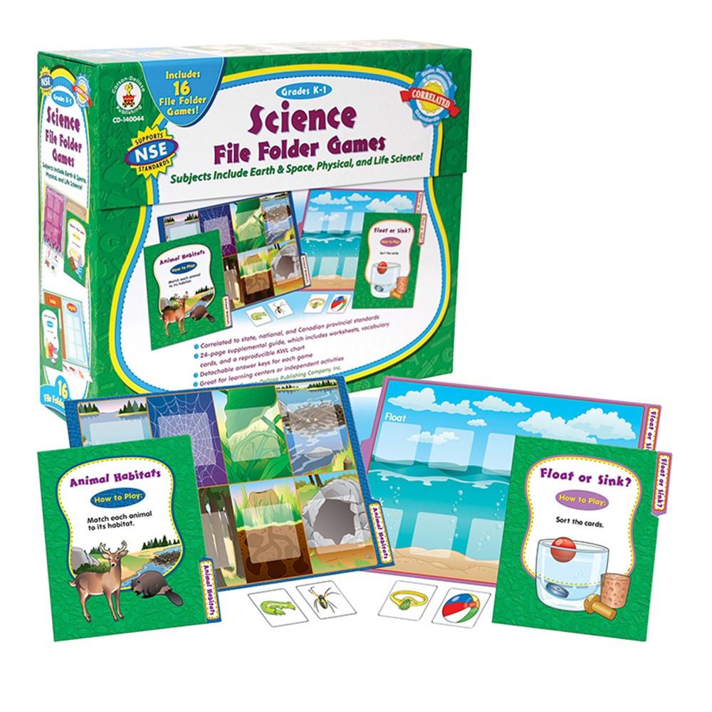 CD-140044 - Games Science File Folder Skill Building Center Activities Gr K-1 in Science