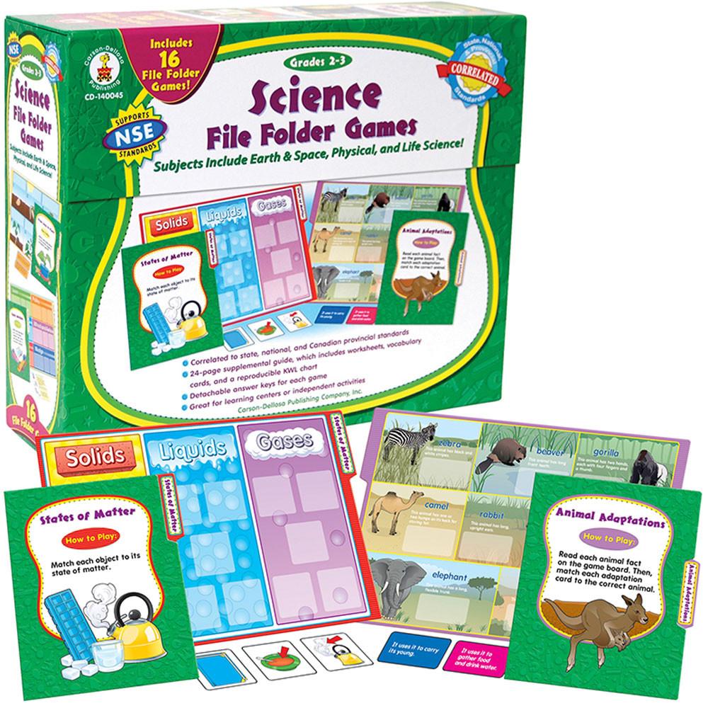 CD-140045 - Games Science File Folder Skill Building Center Activities Gr 2-3 in Science