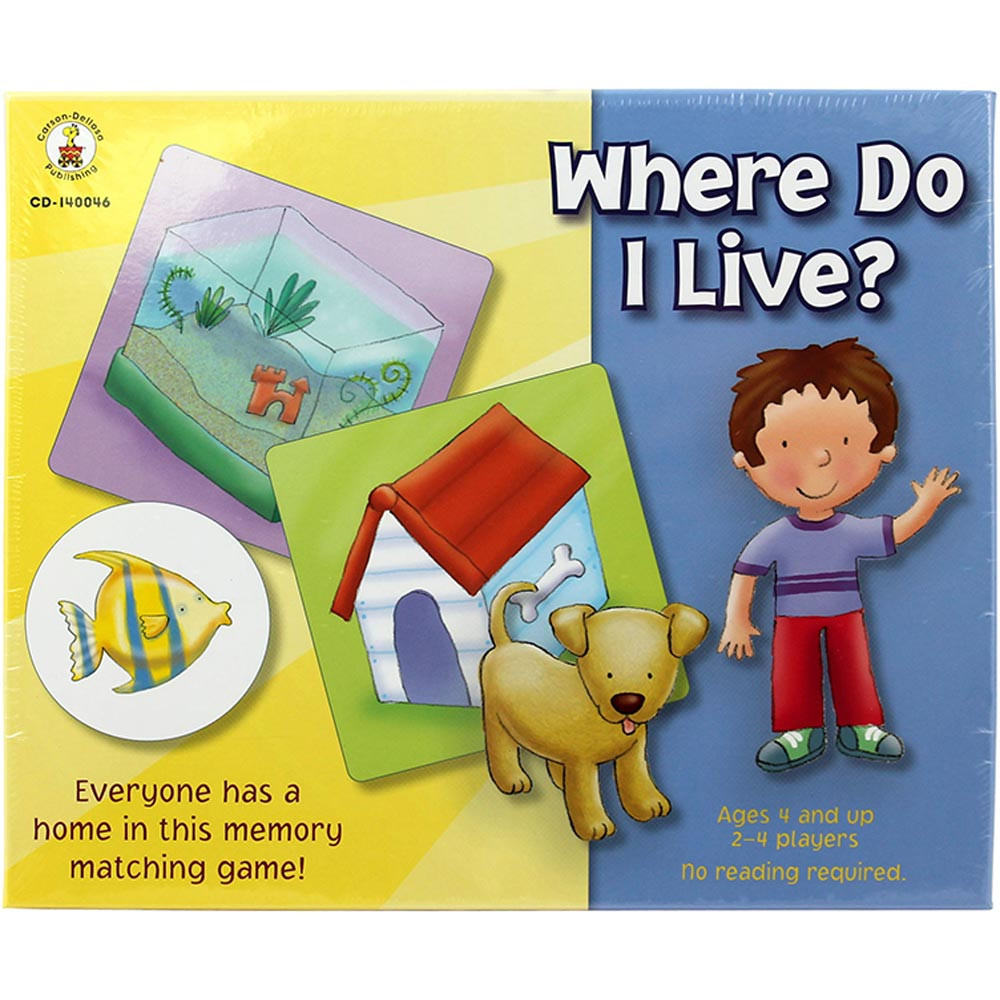 CD-140046 - Where Do I Live Early Childhood Game in Games