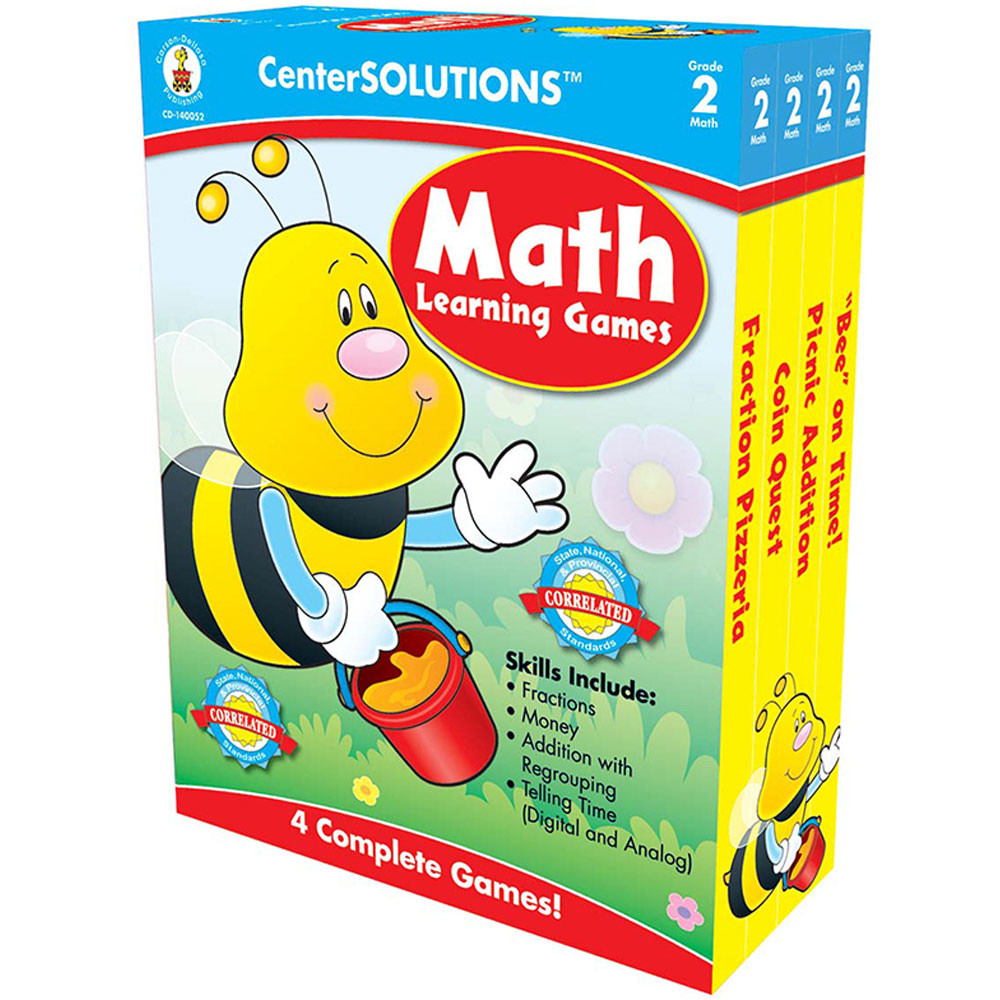 CD-140052 - Math Learning Games Gr 2 Centersolutions in Math