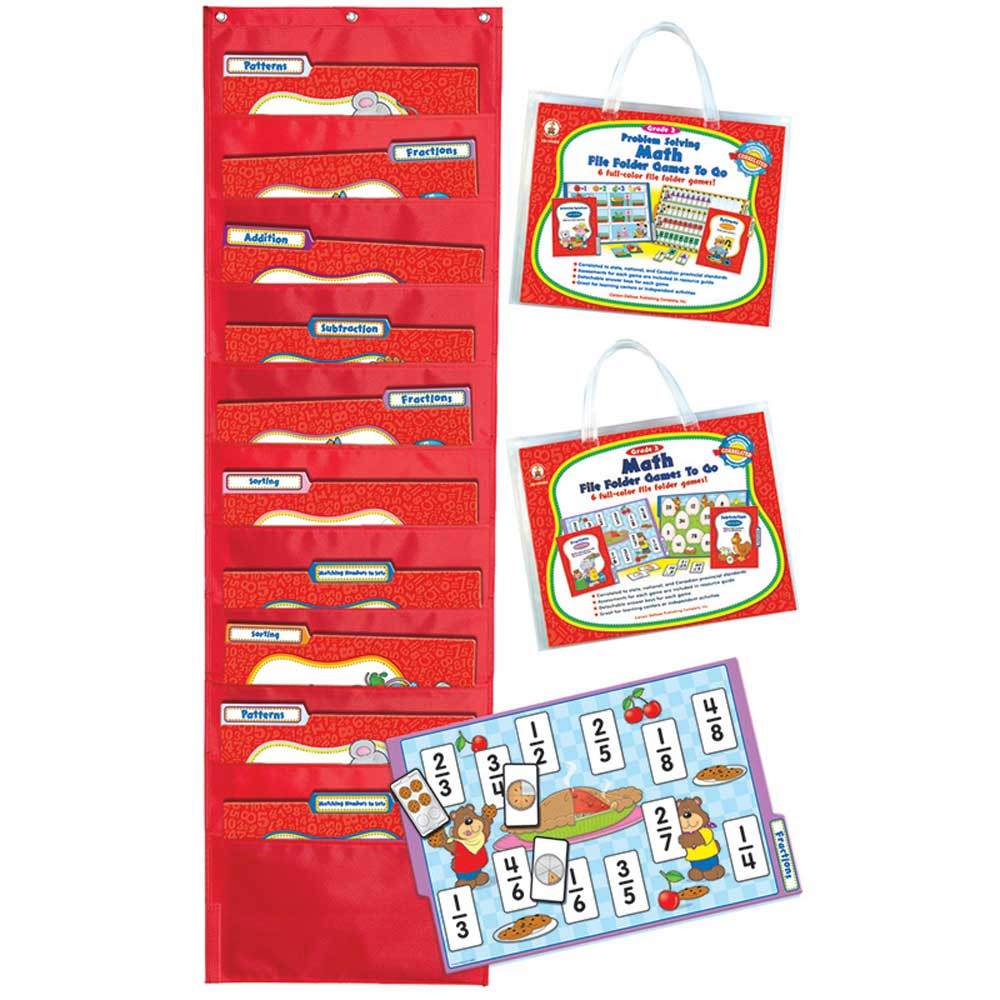 CD-144144 - Math File Folder Games To Go Set Gr-2 in Math
