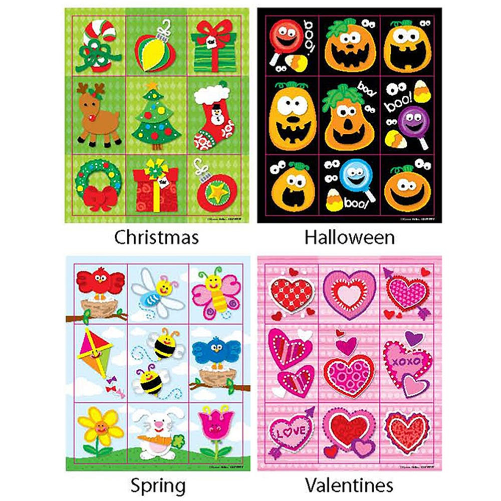 CD-144193 - Holiday Prize Pack Stickers Set in Holiday/seasonal