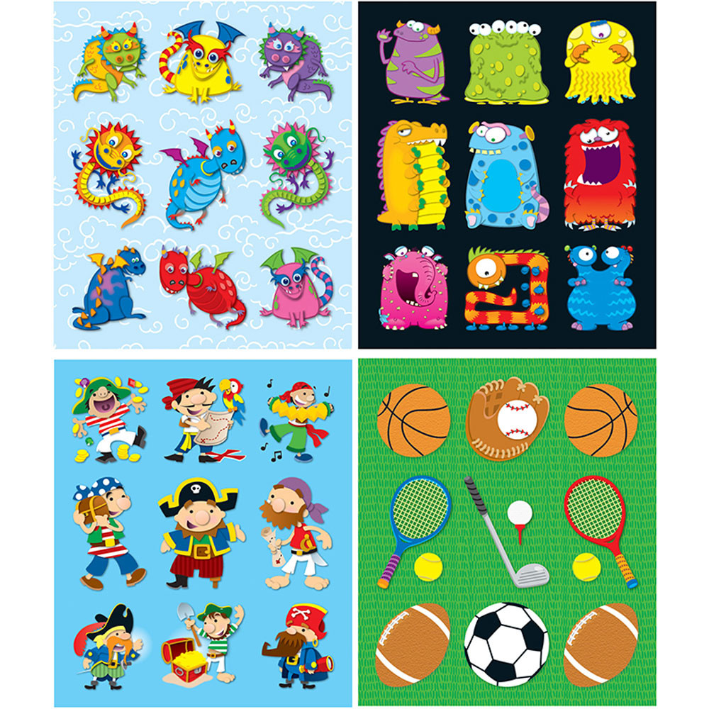 CD-144198 - Boys Prize Pack Stickers Set in Stickers