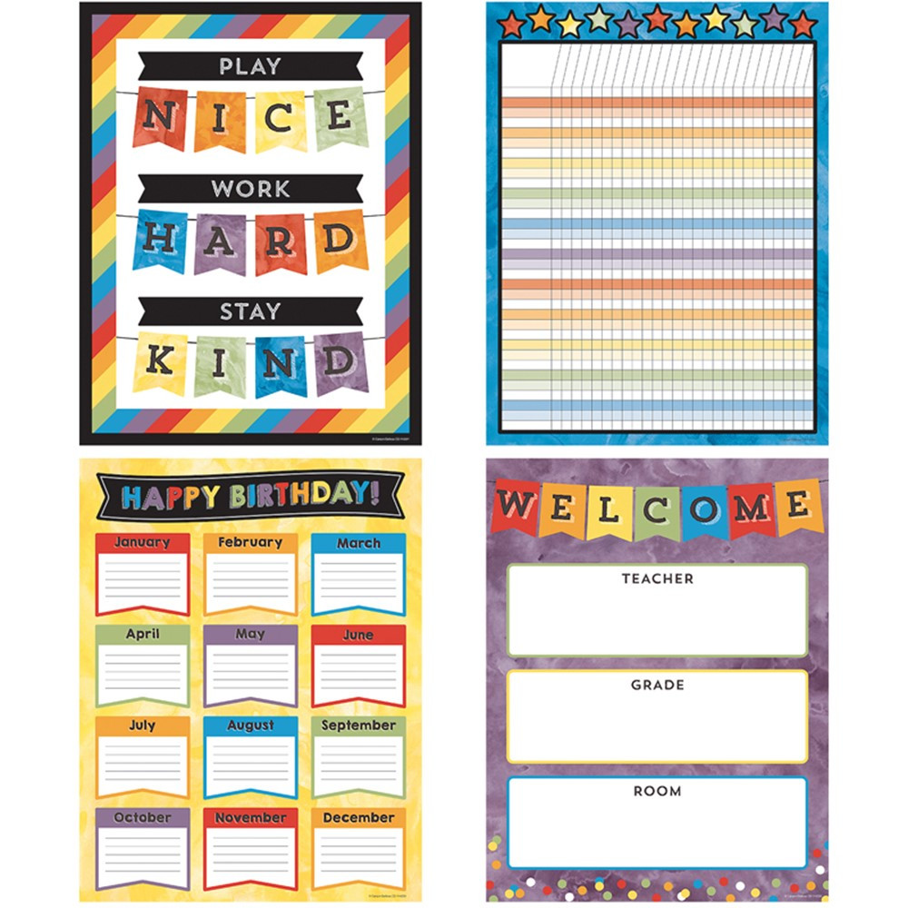 CD-145101 - Celebrate Learning Chart Set in Classroom Theme
